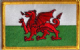 Wales Embroidered Flag Patch, style 08.